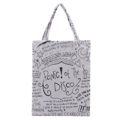 Panic! At The Disco Lyrics Classic Tote Bag by Onesevenart