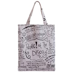 Panic! At The Disco Lyrics Zipper Classic Tote Bag by Onesevenart