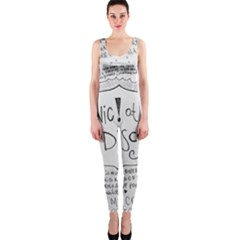 Panic! At The Disco Lyrics Onepiece Catsuit by Onesevenart