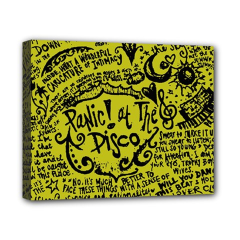 Panic! At The Disco Lyric Quotes Canvas 10  X 8  by Onesevenart