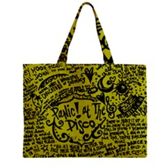 Panic! At The Disco Lyric Quotes Zipper Mini Tote Bag by Onesevenart