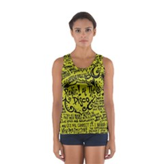 Panic! At The Disco Lyric Quotes Sport Tank Top  by Onesevenart