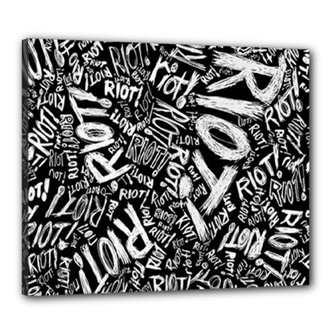 Panic At The Disco Lyric Quotes Retina Ready Canvas 24  X 20  by Onesevenart