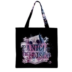Panic At The Disco Art Zipper Grocery Tote Bag by Onesevenart