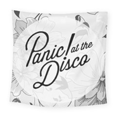 Panic At The Disco Flowers Square Tapestry (large) by Onesevenart