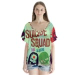 Panic! At The Disco Suicide Squad The Album V-Neck Flutter Sleeve Top