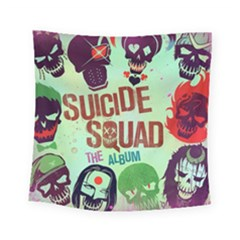 Panic! At The Disco Suicide Squad The Album Square Tapestry (small) by Onesevenart