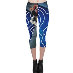 Panic! At The Disco Released Death Of A Bachelor Capri Leggings  by Onesevenart