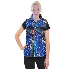 Panic! At The Disco Released Death Of A Bachelor Women s Button Up Puffer Vest by Onesevenart