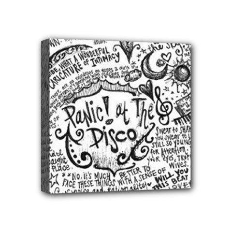 Panic! At The Disco Lyric Quotes Mini Canvas 4  X 4  by Onesevenart