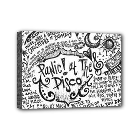 Panic! At The Disco Lyric Quotes Mini Canvas 7  X 5  by Onesevenart