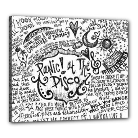 Panic! At The Disco Lyric Quotes Canvas 24  X 20  by Onesevenart