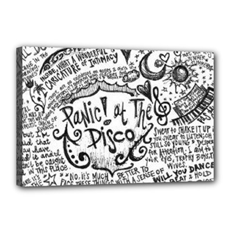 Panic! At The Disco Lyric Quotes Canvas 18  X 12  by Onesevenart