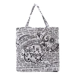 Panic! At The Disco Lyric Quotes Grocery Tote Bag by Onesevenart