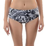 Panic! At The Disco Lyric Quotes Reversible Mid-Waist Bikini Bottoms