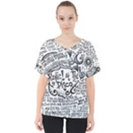 Panic! At The Disco Lyric Quotes V-Neck Dolman Drape Top