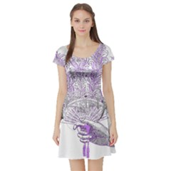 Panic At The Disco Short Sleeve Skater Dress by Onesevenart
