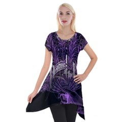 Panic At The Disco Short Sleeve Side Drop Tunic by Onesevenart