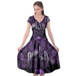 Panic At The Disco Cap Sleeve Wrap Front Dress
