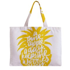 Cute Pineapple Yellow Fruite Mini Tote Bag by Mariart