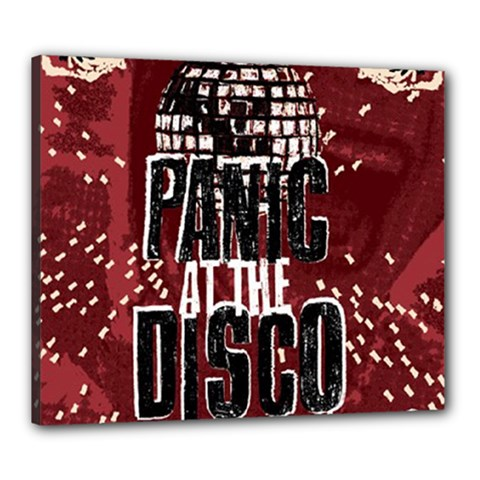 Panic At The Disco Poster Canvas 24  X 20  by Onesevenart