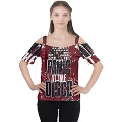 Panic At The Disco Poster Cutout Shoulder Tee by Onesevenart