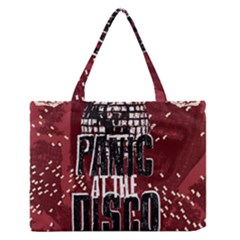 Panic At The Disco Poster Zipper Medium Tote Bag by Onesevenart