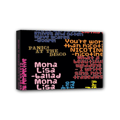 Panic At The Disco Northern Downpour Lyrics Metrolyrics Mini Canvas 6  X 4  by Onesevenart