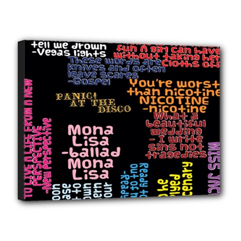 Panic At The Disco Northern Downpour Lyrics Metrolyrics Canvas 16  X 12  by Onesevenart