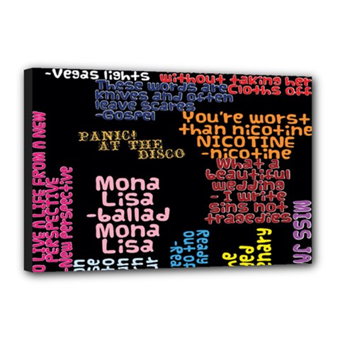 Panic At The Disco Northern Downpour Lyrics Metrolyrics Canvas 18  X 12  by Onesevenart