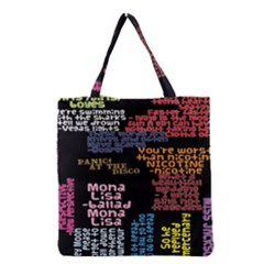 Panic At The Disco Northern Downpour Lyrics Metrolyrics Grocery Tote Bag by Onesevenart