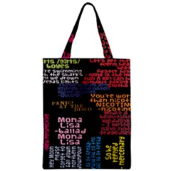 Panic At The Disco Northern Downpour Lyrics Metrolyrics Zipper Classic Tote Bag by Onesevenart