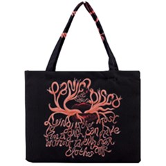 Panic At The Disco   Lying Is The Most Fun A Girl Have Without Taking Her Clothes Mini Tote Bag by Onesevenart