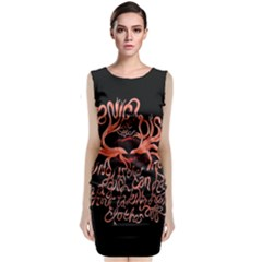 Panic At The Disco   Lying Is The Most Fun A Girl Have Without Taking Her Clothes Sleeveless Velvet Midi Dress by Onesevenart