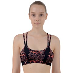 Panic At The Disco   Lying Is The Most Fun A Girl Have Without Taking Her Clothes Line Them Up Sports Bra by Onesevenart