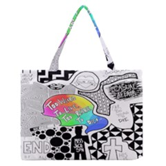 Panic ! At The Disco Zipper Medium Tote Bag by Onesevenart