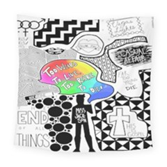 Panic ! At The Disco Square Tapestry (large) by Onesevenart