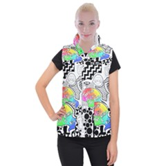 Panic ! At The Disco Women s Button Up Puffer Vest by Onesevenart