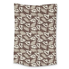 Dried Leaves Grey White Camuflage Summer Large Tapestry by Mariart