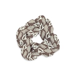 Dried Leaves Grey White Camuflage Summer Velvet Scrunchie by Mariart