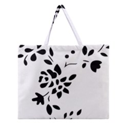 Flower Rose Black Sexy Zipper Large Tote Bag by Mariart