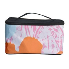 Flower Sunflower Floral Pink Orange Beauty Blue Yellow Cosmetic Storage Case by Mariart
