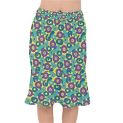 Discrete State Turing Pattern Polka Dots Green Purple Yellow Rainbow Sexy Beauty Mermaid Skirt by Mariart