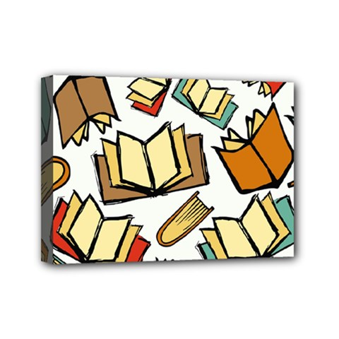Friends Library Lobby Book Sale Mini Canvas 7  X 5  by Mariart