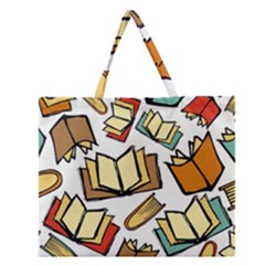 Friends Library Lobby Book Sale Zipper Large Tote Bag by Mariart
