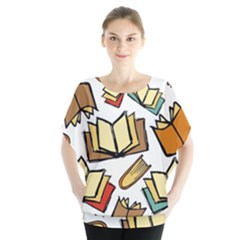 Friends Library Lobby Book Sale Blouse by Mariart