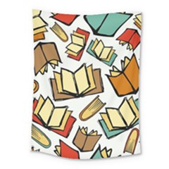 Friends Library Lobby Book Sale Medium Tapestry by Mariart