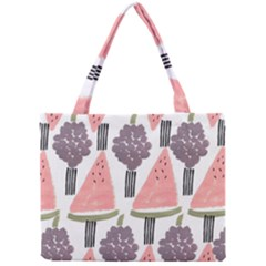 Grapes Watermelon Fruit Patterns Bouffants Broken Hearts Mini Tote Bag by Mariart