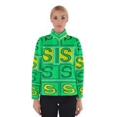 Letter Huruf S Sign Green Yellow Winterwear by Mariart