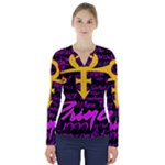 Prince Poster V-Neck Long Sleeve Top